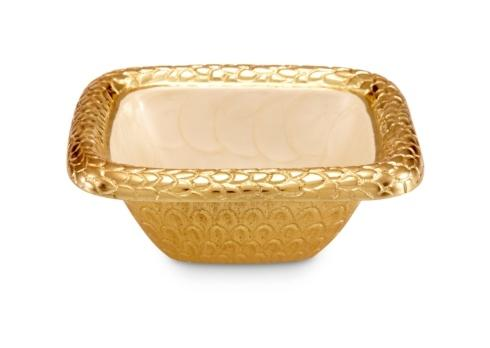 "$95.00 6.25"" Square Bowl Snow"