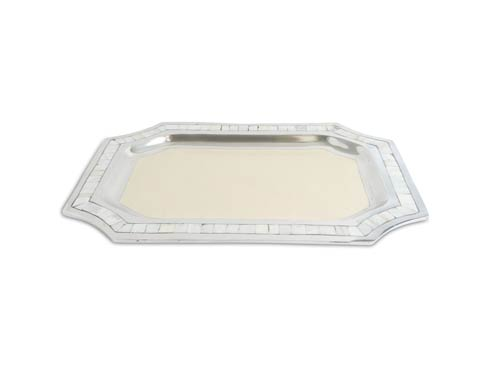 "$250.00 20"" Octagonal Tray Snow"
