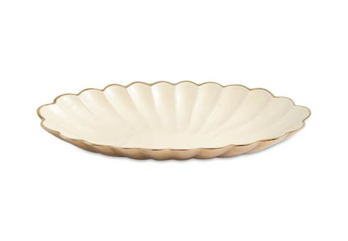 "$199.00 16"" Oval Bowl Gold Snow"