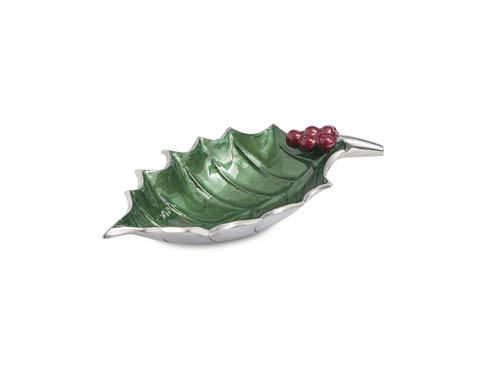 """$65.00 Holly Sprig 10"""" Bowl Emerald .."""