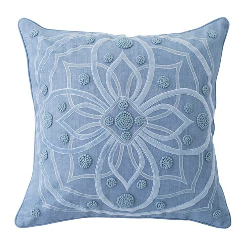"""$178.00 Berry & Thread Chambray 22"""" Pillow"""