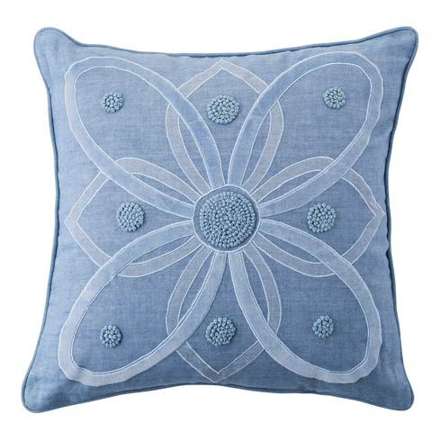 """$148.00 Berry & Thread Chambray 18"""" Pillow"""