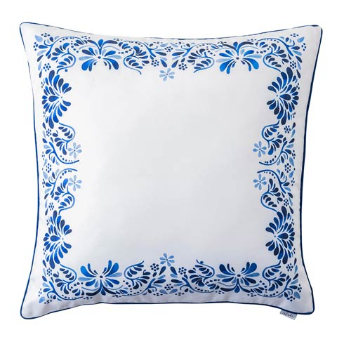 "$98.00 Iberian Journey Indigo Border 22"" Pillow"