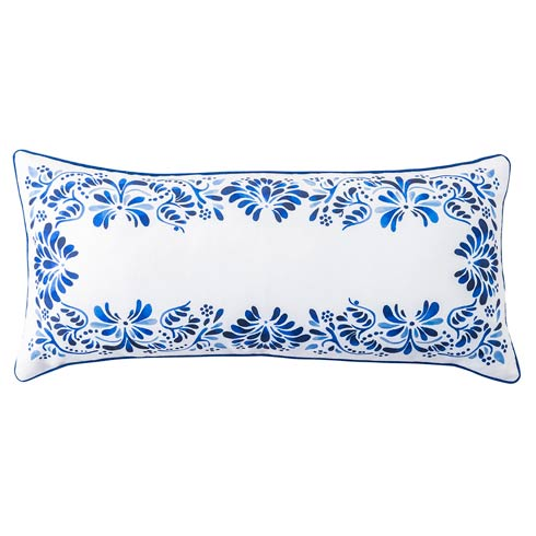 "$88.00 Iberian Journey Indigo 12"" x 27"" Pillow"