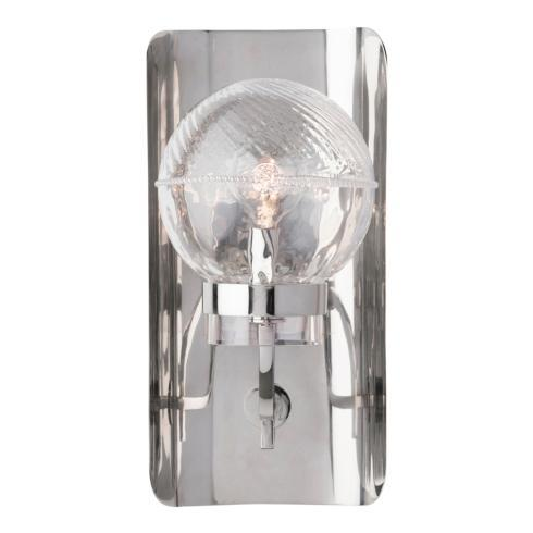 $585.00 Graham Globe on Lisbon Sconce in Nickel