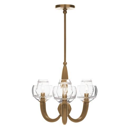 $1,750.00 Dean Double Shade on Paris Chandelier in Brass