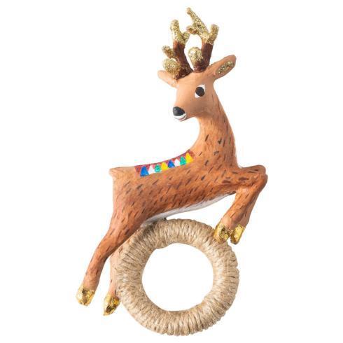 $98.00 Reindeer Napkin Ring Set/4