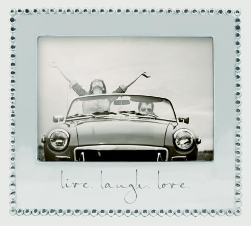 """Mariposa  Engraved Statements """"live. laugh. love"""" 5 x 7 Frame $69.00"""