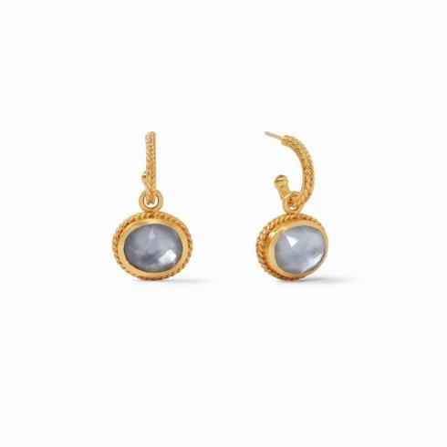 $165.00 Catalina Earring Iridescent  Slate Blue
