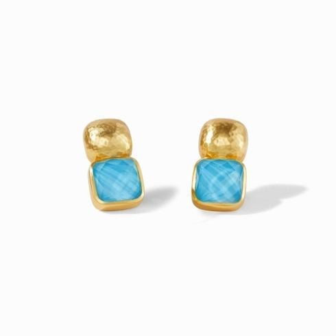 $165.00 Catalina Earring Iridescent Pacific Blue