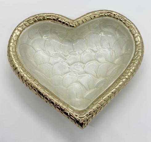 $48.00 Croco Gold Heart Bowl
