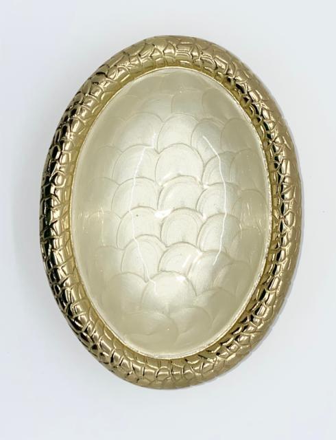 $62.00 Croco Gold Medium Oval bowl/platter