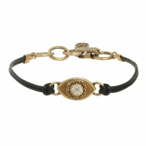 $45.00 Small gold evil eye bracelet