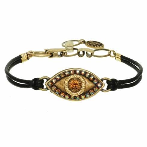 $55.00 Medium gold evil eye bracelet