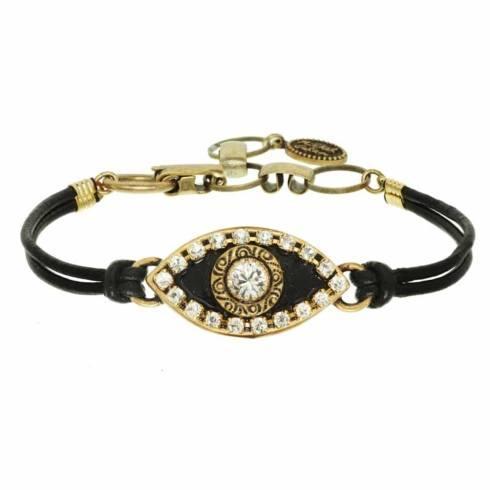 $55.00 Medium black evil eye bracelet