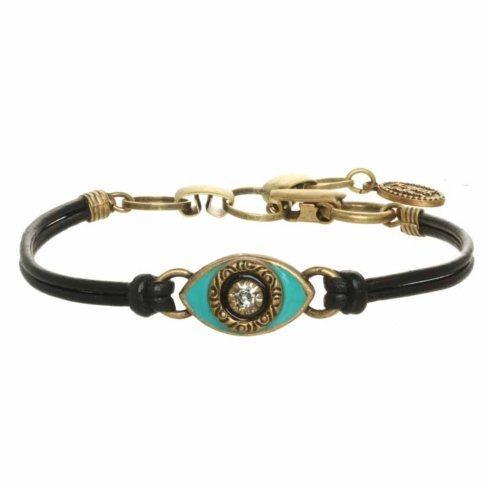 $45.00 Small teal evil eye bracelet