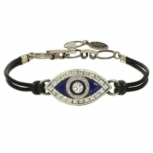 $55.00 Medium navy blue evil eye bracelet