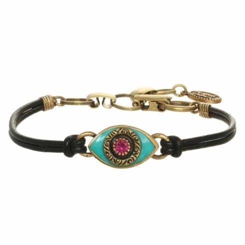 $45.00 Small teal small evil eye bracelet