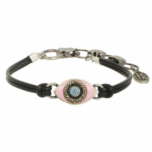 $45.00 Small pink evil eye bracelet