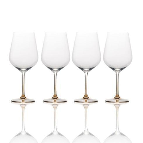 $39.99 Gianna Ombre Amber 19.7oz. Red Wine Glass, Set of 4
