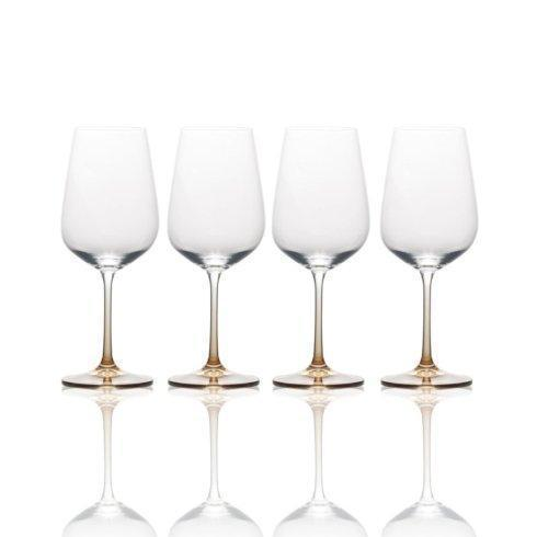 $39.99 Gianna Ombre Amber 15.2oz. White Wine GLass