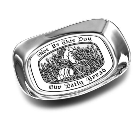 """$24.99 """"Give us this Day"""" Small Bread Tray"""
