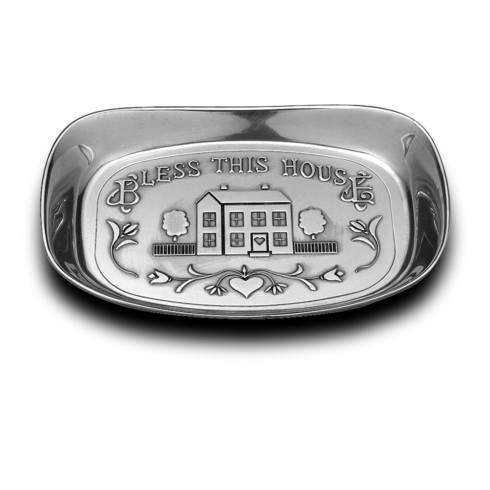 """Bless this Home"" Small Bread Tray"