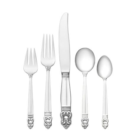 $1,000.00 5 Piece Dinner Setting with Cream Soup Spoon