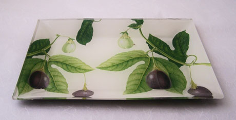 Flared Rectangular Tray Passion Fruit on White