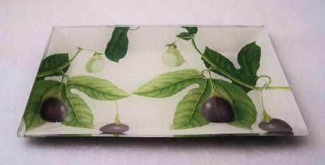 Flared Rectangular Tray Passion Fruit on White