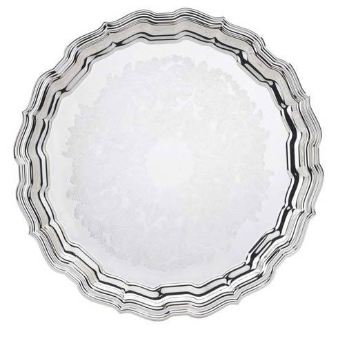 """$125.00 14 1/2"""" D. Round Tray, Embossed"""