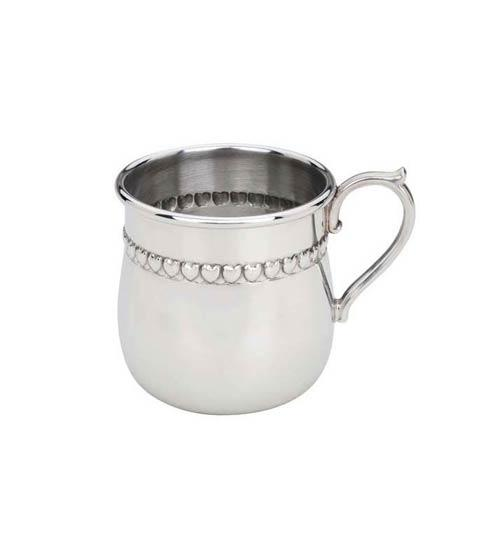 $70.00 Hearts Pewter Baby Cup