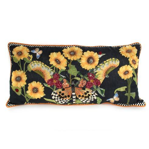 $350.00 Monarch Butterfly Lumbar Pillow - Black