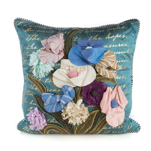 $250.00 Bronte\'s Poetry Square Pillow