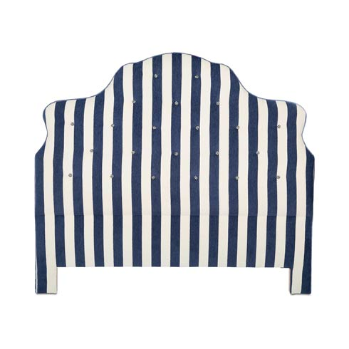$1,995.00 Marquee Headboard - Chenille Navy Stripe - Queen