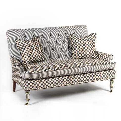 $2,987.50 Courtly Check Underpinnings Loveseat