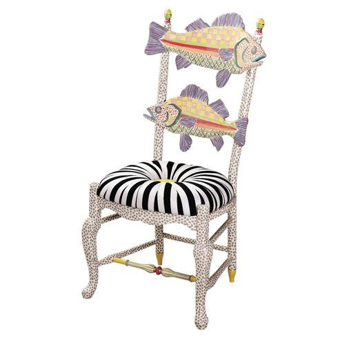 $1,995.00 Freckle Fish Chair - Black & White Seat