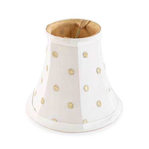 $45.00 Polka Dot Chandelier Shade - White