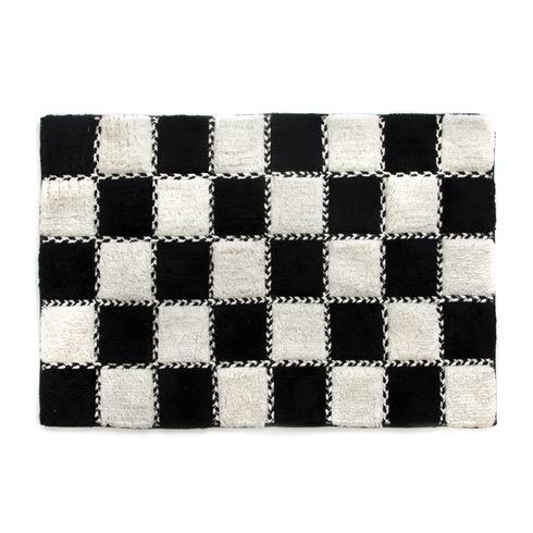 $88.00 Covent Square Bath Rug - Black & White