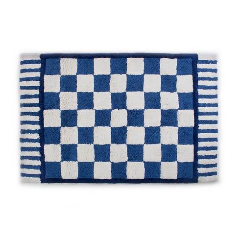 $145.00 Royal Check Bath Rug - Large