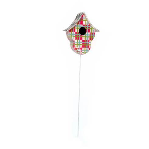 $72.00 Capiz Birdhouse Pick - Fuschia Plaid
