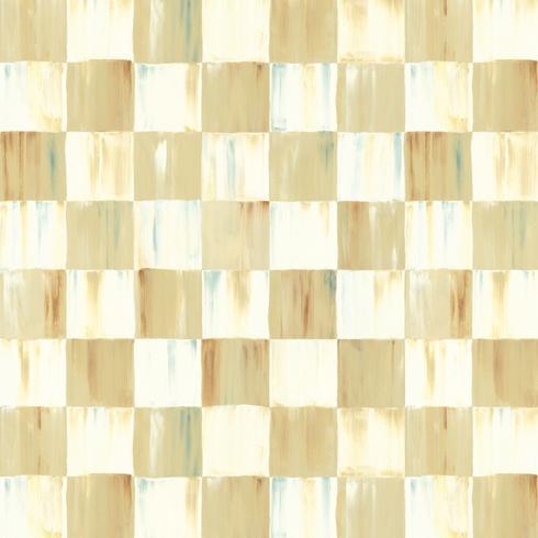 $148.00 Parchment Check Wallpaper