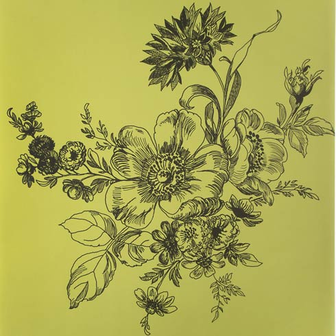 $88.00 Wild Rose Wallpaper - Chartreuse
