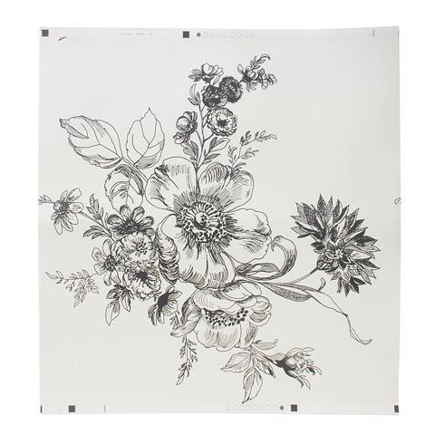$88.00 Wild Rose Wallpaper - Ivory
