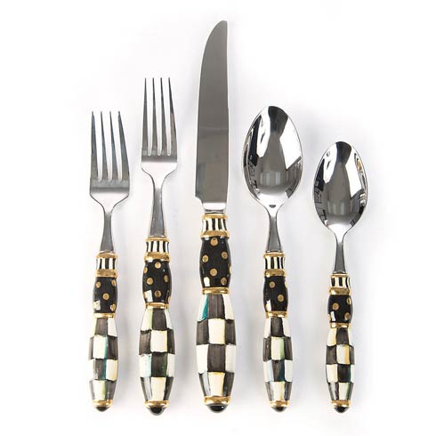 $150.00 Black Tie 5-Piece Place Setting