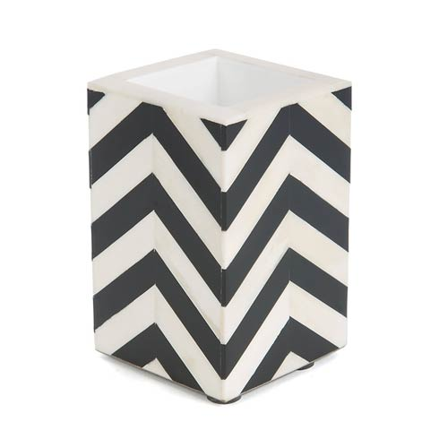 $65.00 Cotton Swab Cup - Black & Ivory