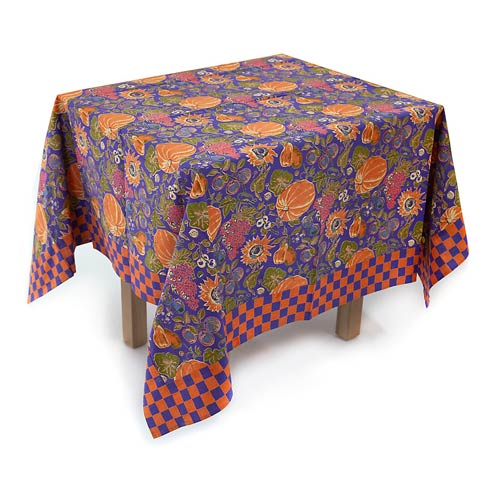 "$65.00 Harvest Pumpkin Tablecloth - 54"" Square"