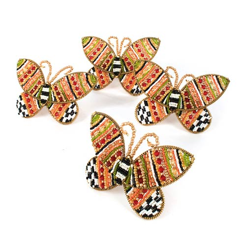 Monarch Butterfly Beaded Napkin Rings - Set Of 4 collection with 1 products