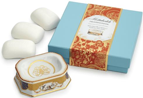$115.00 Golden Butterfly Gift Soap Set