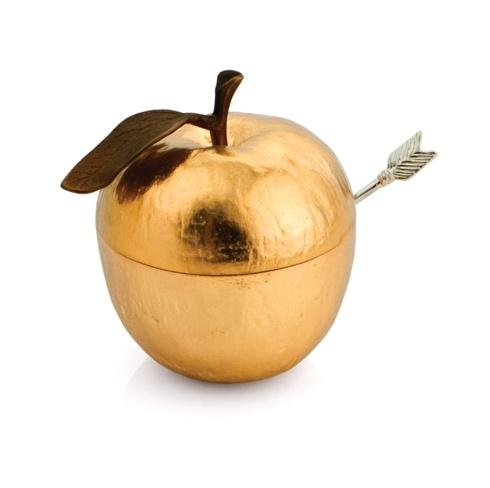 Apple Honey Pot w/ Spoon Goldtone  collection with 1 products